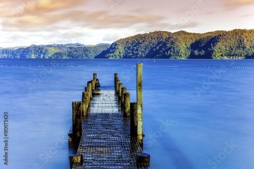 Fotobehang Pier Serene New Zealand Seascape
