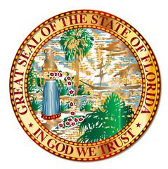 Metal Florida State Seal