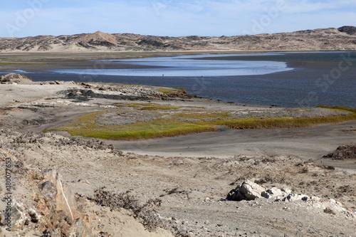 Foto op Plexiglas Blauwe hemel Lüderitzbucht
