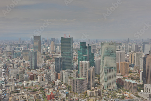 Fotobehang Tokio city aerial view from Tokyo Tower