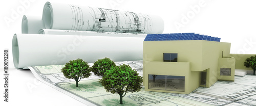 Poster Bauplanung mit PV-Anlage (panoramisch)