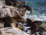 Skaliste wybrzeże wyspy Thassos