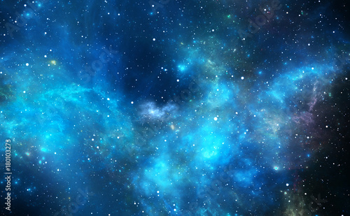 Space background with nebula and stars © Peter Jurik