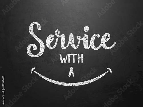 """SERVICE WITH A SMILE"" on blackboard"
