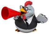 Fun chicken - 3D Illustration - 180108613