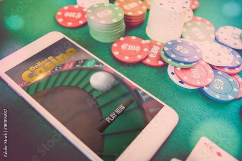 smartphone casino online плакат