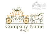 Pumpkin Carriage  Wall Sticker