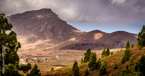 Deurstickers Canarische Eilanden Mount Teide