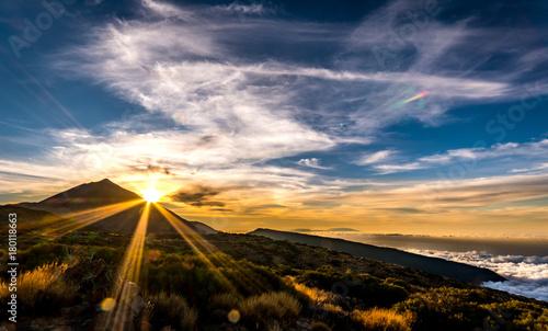 Staande foto Canarische Eilanden Mount Teide at Sunset