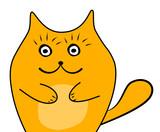 cute cat sketch vector illustration, print design cat, children print on t-shirt girl. hand drawn cat with glasses