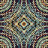 Vector square background. Mandala round decorative ornament pattern. - 180122062