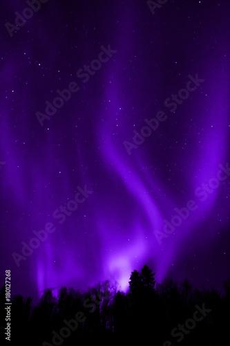 Foto op Canvas Violet Aurora Borealis
