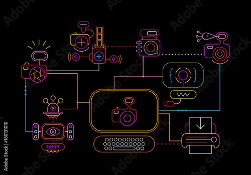 Foto op Plexiglas Abstractie Art Photo Studio Network