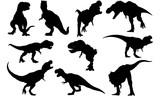 Tyrannosaurus Silhouette Vector Graphics - 180131600