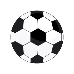 Soccer ball isolated on white background, Vector illustration