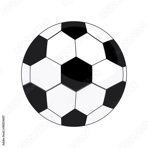 Soccer ball isolated on white background, Vector illustration