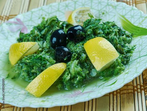 Aluminium Marokko Moroccan Mallow Salad