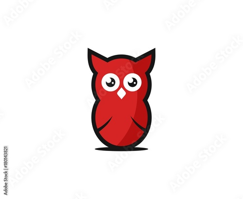 Aluminium Uilen cartoon Owl logo