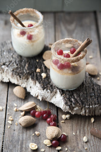 Milk dessert, spices and nuts