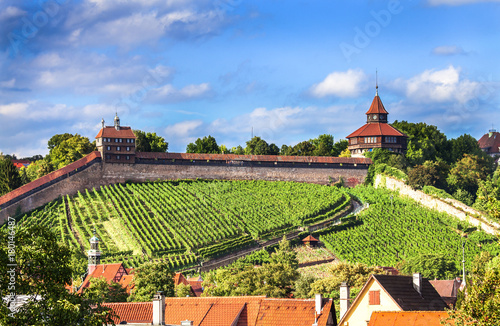 Fridge magnet Esslingen Germany,view of historic castle