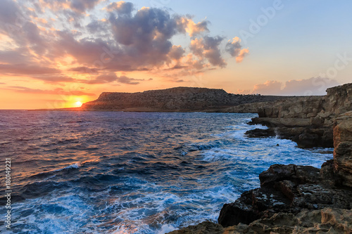 Fotobehang Cyprus Cape Greco at sunset.Ayia Napa.Cyprus