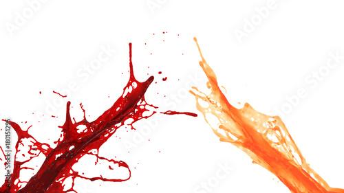 Fotobehang Sap orange and red juice splash