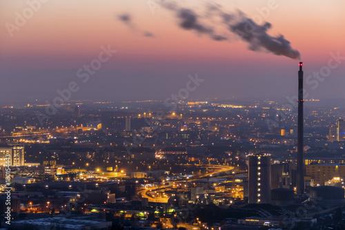 austria, linz, industrial area - 180154443