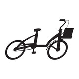 Silhouette of a bicycle isolated on white background, Vector illustration