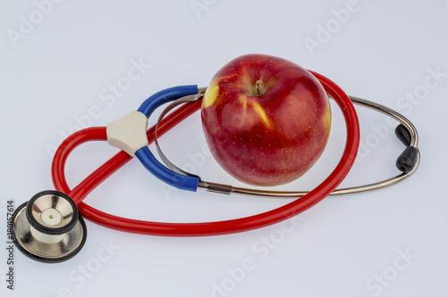 Fotobehang Vruchten apple and stethoscope