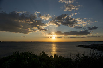 Beautiful sunset from La perouse in Sydney