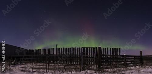 Foto op Plexiglas Aubergine Rural aurora borealis
