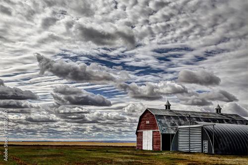 Deurstickers Bleke violet Saskatchewan Canada Landscape