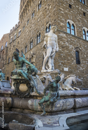 Aluminium Florence Fountain of Neptune, Florence, Italy