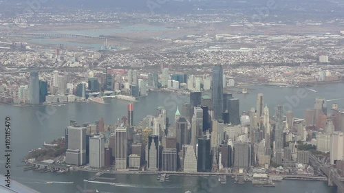 new York City Manhattan aerial view