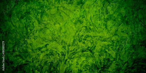 green mortar background texture / green wall - 180189279