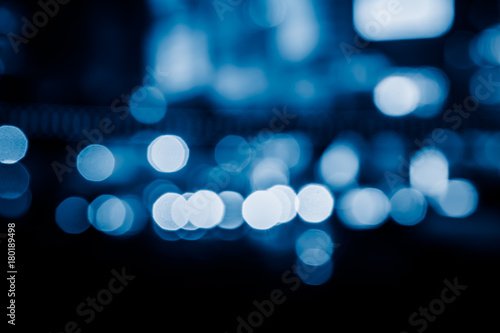 City at night - blur photo, blurred background. - 180189498