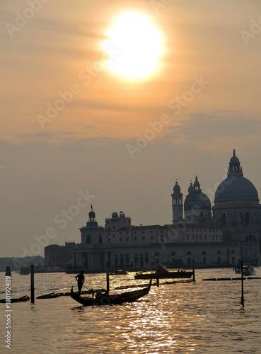 Foto op Plexiglas Venetie tramonto