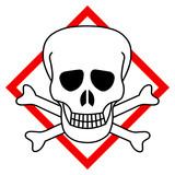 Symbole toxique tête de mort pictogramme - 180204667