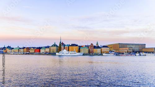 Aluminium Stockholm Morning view of Stockholm in winter, Sweden