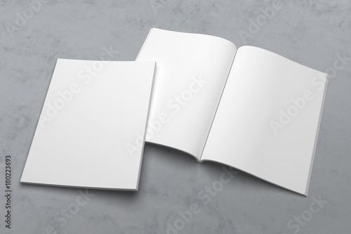 Leinwandbild Motiv US Letter magazine or brochure 3D illustration mockup on texture No. 1