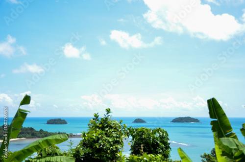 Fotobehang Tropical strand ocean, Thailand