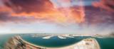 Dubai Marina aerial view from Palm Jumeirah, UAE - 180227689