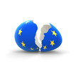 Broken egg with European community