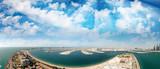 Aerial panorama of Dubai Marina - View from palm Jumeirah Island - 180236867