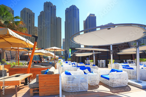 Foto op Plexiglas Dubai Marina bay district in Dubai