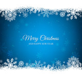 Blue Christmas backg...