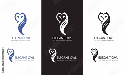 Preview Elegant Owl Template