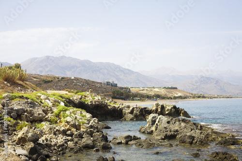 Foto op Canvas Wit The landscape of Crete