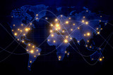 Global networking and communication concept