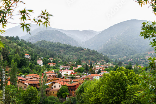 Papiers peints Chypre View of the old village Kakopetria